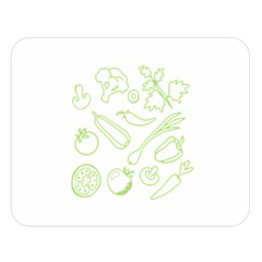 Green Vegetables Double Sided Flano Blanket (large)  by Famous