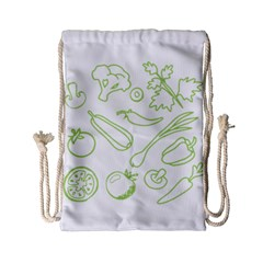 Green Vegetables Drawstring Bag (small) by Famous