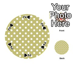 Lime Green Polka Dots Playing Cards 54 (round)