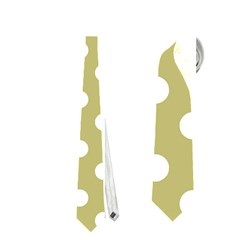 Lime Green Polka Dots Neckties (two Side)