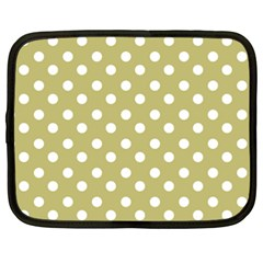 Lime Green Polka Dots Netbook Case (xxl)  by creativemom
