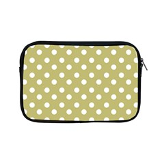 Lime Green Polka Dots Apple Ipad Mini Zipper Cases by creativemom