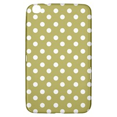 Lime Green Polka Dots Samsung Galaxy Tab 3 (8 ) T3100 Hardshell Case  by creativemom