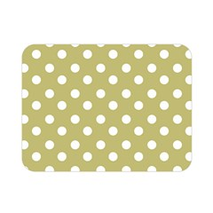 Lime Green Polka Dots Double Sided Flano Blanket (mini)  by creativemom