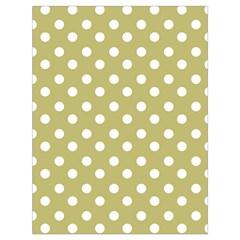 Lime Green Polka Dots Drawstring Bag (large) by creativemom