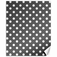 Gray Polka Dots Canvas 11  x 14   by creativemom