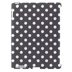 Gray Polka Dots Apple iPad 3/4 Hardshell Case (Compatible with Smart Cover) by creativemom