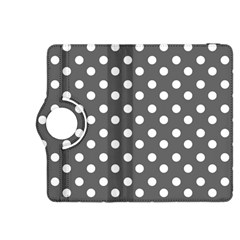 Gray Polka Dots Kindle Fire HDX 8.9  Flip 360 Case by creativemom