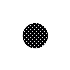 Black And White Polka Dots 1  Mini Buttons by creativemom