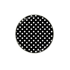 Black And White Polka Dots Hat Clip Ball Marker (10 Pack)