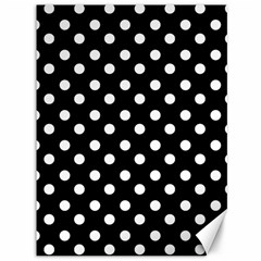 Black And White Polka Dots Canvas 36  X 48   by creativemom