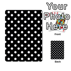 Black And White Polka Dots Multi Purpose Cards (rectangle)