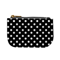Black And White Polka Dots Mini Coin Purses