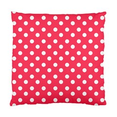 Hot Pink Polka Dots Standard Cushion Cases (two Sides)  by creativemom