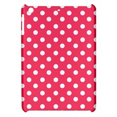Hot Pink Polka Dots Apple Ipad Mini Hardshell Case by creativemom