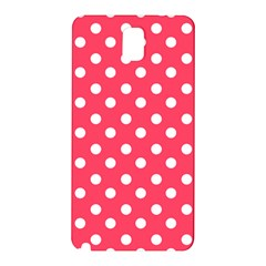 Hot Pink Polka Dots Samsung Galaxy Note 3 N9005 Hardshell Back Case by creativemom