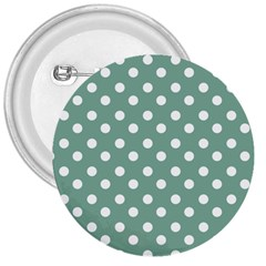 Mint Green Polka Dots 3  Buttons by creativemom