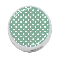 Mint Green Polka Dots 4-Port USB Hub (Two Sides)  by creativemom