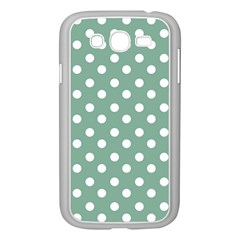 Mint Green Polka Dots Samsung Galaxy Grand Duos I9082 Case (white) by creativemom