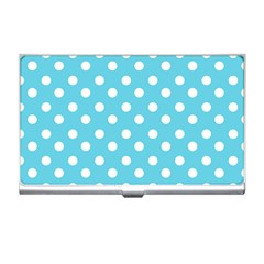 Sky Blue Polka Dots Business Card Holders by creativemom