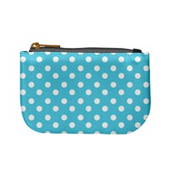 Sky Blue Polka Dots Mini Coin Purses by creativemom
