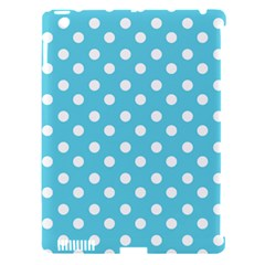 Sky Blue Polka Dots Apple iPad 3/4 Hardshell Case (Compatible with Smart Cover) by creativemom