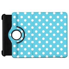 Sky Blue Polka Dots Kindle Fire Hd Flip 360 Case by creativemom