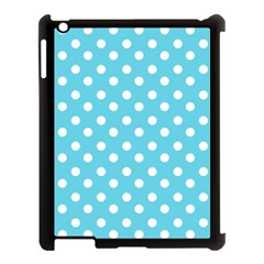 Sky Blue Polka Dots Apple Ipad 3/4 Case (black) by creativemom
