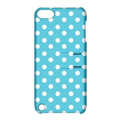 Sky Blue Polka Dots Apple Ipod Touch 5 Hardshell Case With Stand by creativemom