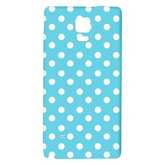 Sky Blue Polka Dots Galaxy Note 4 Back Case by creativemom