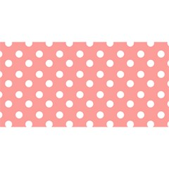 Coral And White Polka Dots You Are Invited 3d Greeting Card (8x4)