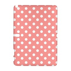 Coral And White Polka Dots Samsung Galaxy Note 10 1 (p600) Hardshell Case by creativemom