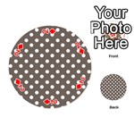 Brown And White Polka Dots Playing Cards 54 (Round)  Front - Diamond2