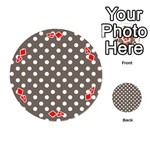 Brown And White Polka Dots Playing Cards 54 (Round)  Front - Diamond4