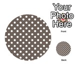 Brown And White Polka Dots Playing Cards 54 (Round)  Back
