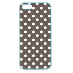 Brown And White Polka Dots Apple Seamless Iphone 5 Case (color) by creativemom