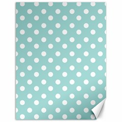 Blue And White Polka Dots Canvas 12  X 16   by creativemom