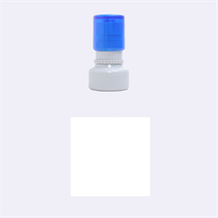 Blue And White Polka Dots Rubber Round Stamps (small)