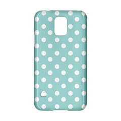 Blue And White Polka Dots Samsung Galaxy S5 Hardshell Case  by creativemom