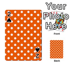 Orange And White Polka Dots Playing Cards 54 Designs