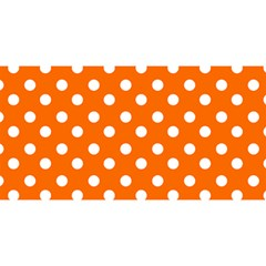 Orange And White Polka Dots You Are Invited 3d Greeting Card (8x4)