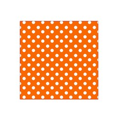 Orange And White Polka Dots Satin Bandana Scarf by creativemom