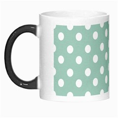 Light Blue And White Polka Dots Morph Mugs by creativemom