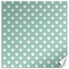 Light Blue And White Polka Dots Canvas 20  X 20   by creativemom