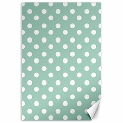 Light Blue And White Polka Dots Canvas 24  x 36  by creativemom