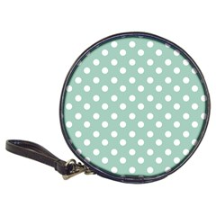 Light Blue And White Polka Dots Classic 20 Cd Wallets by creativemom