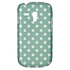 Light Blue And White Polka Dots Samsung Galaxy S3 Mini I8190 Hardshell Case by creativemom