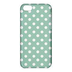 Light Blue And White Polka Dots Apple Iphone 5c Hardshell Case by creativemom