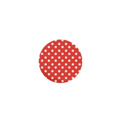 Indian Red Polka Dots 1  Mini Magnets by creativemom
