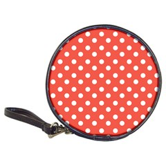 Indian Red Polka Dots Classic 20 Cd Wallets by creativemom